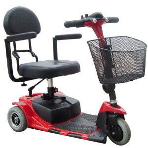 Trottinette électrique seniors 3 roues MOBY démontrable pour seniors ou handicapé