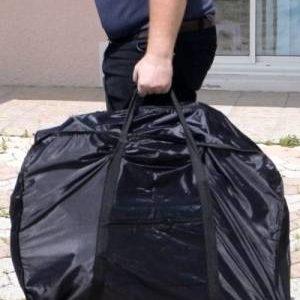 Vélo électrique pliant mini ev plié, facile à mettre dans un sac pour transport partout