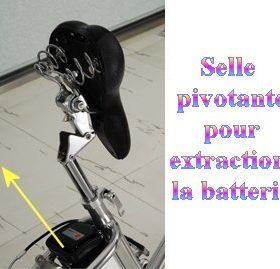 selle pivotante velos electriques 280x269 - Vélo Electrique femme SILVER avec démarrage facile