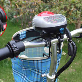 Trottinette électrique 3 roues andy delux grand confort avec panier amovible, table de bord, clé de contact, phare, sonnette...