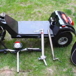 Trottinette électrique 3 roues ANDY DELUX : facile à démonter, pour mettre dans le coffre de voiture, camping-car