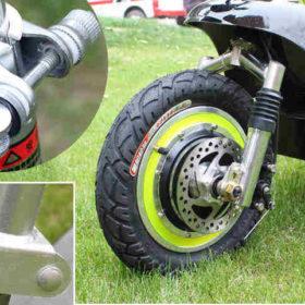 Trottinette électrique 3 roues andy delux : roues avant de 12″ (30cm) avec moteur dans le moyeu