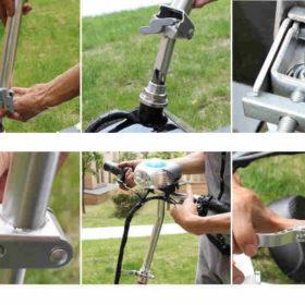 Trottinette électrique 3 roues andy delux facile à installer, plier en quelques secondes