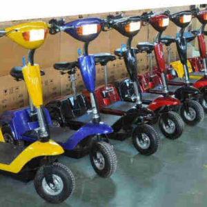 Trottinette électrique 3 roues andy, fabrication de qualité, couleur au choix