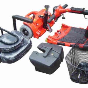 Trottinette électrique 4 roues pour séniors et handicapes, démontrable en plusieurs morceaux pour transporter partout