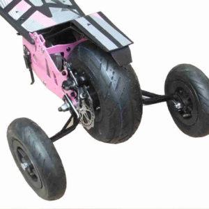 Trottinette électrique urbanstar peut adapter 2 roues de stabilisateurs
