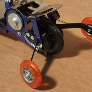 Trottinette électrique kid 120w adaptée 2 roues de stabilisateurs