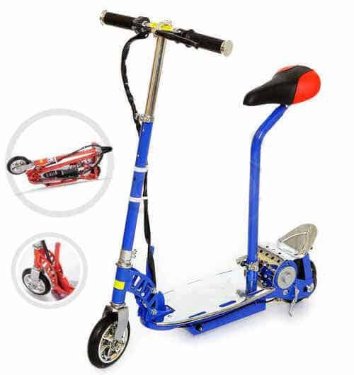 Trottinette électrique freestyle kid 120w pour adolescents ou enfants, plier en quelques secondes, emmener partout