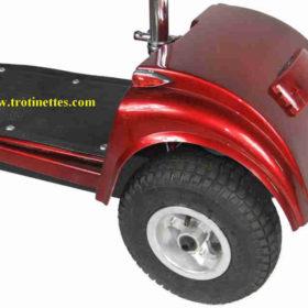 """Trottinette électrique 3 roues andy: roues arrières 9"""" très large pour meilleur stabilité"""