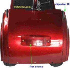 Trottinette électrique 3 roues andy: clignotants arrières et feux de stop