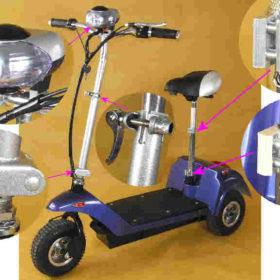Trottinette électrique 3 roues andy, pour personne faible ou besoin d'équilibrer.