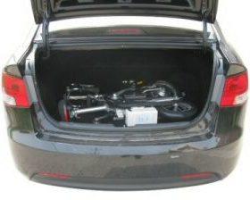 velo pliant electrique dans voiture