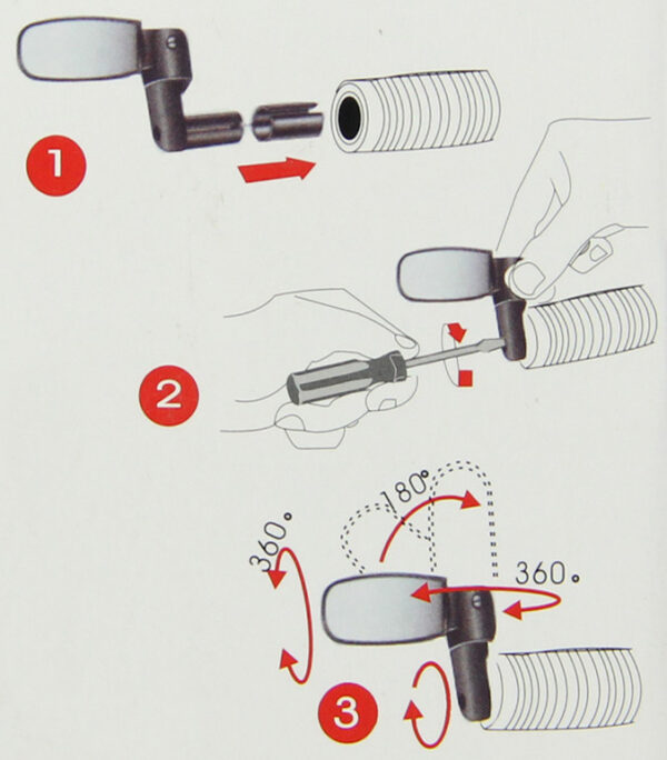 Retroviseur velo | rétroviseur sur guidon vélo électrique ou trottinette électrique