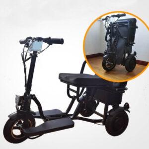 trottinettes electriques adulte 3 roues avec siege pliant facile et très compacte
