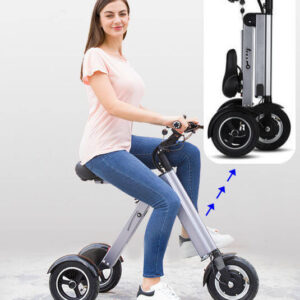 Vélo électrique femme super léger pour emmener dans ascenseur, bureaux, bus, métro...