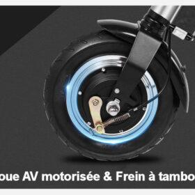 Vélo électrique 3 roues pliant, équipés de moteur brushless dans la roue avant, aussi le frein à tambour.