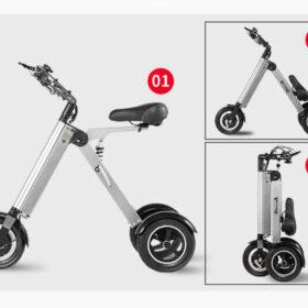 Vélo électrique femme pliant 3 roues super léger, plie en 3 secondes, c'est facile comme 1, 2, 3. Condes, c'est facile comme 1, 2, 3.