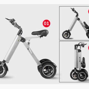 Vélo électrique femme pliant 3 roues super léger, plie en 3 secondes, c'est facile comme 1, 2, 3.condes, c'est facile comme 1, 2, 3.