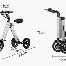 Vélo électrique 3 roues pliant, super léger, plie en quelques secondes.