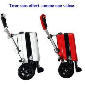Trottinette électrique 3 roues pliable automatique tire facile comme une valise