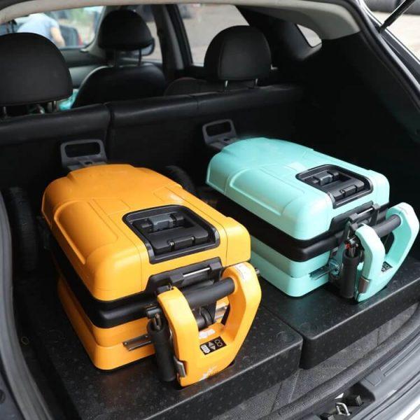 Scooter électrique 3 roues pliable airtrans plie et mettre dans coffre de voiture facile
