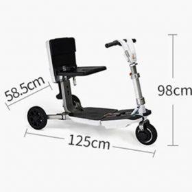Scooter électrique 3 roues pliable airtrans dépliée taille ouverte