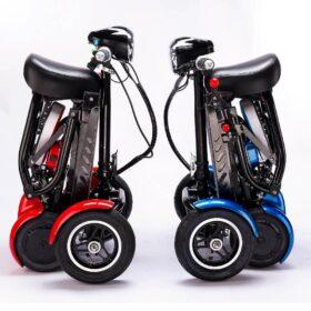 Trottinette électrique pliable 4 roues easy move pliée en quelques secondes, super facile