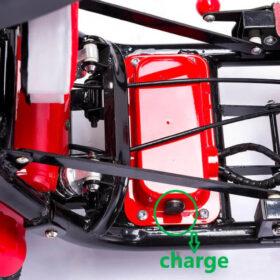 Trottinette électrique 4 roues pliant easy move pliée très facile