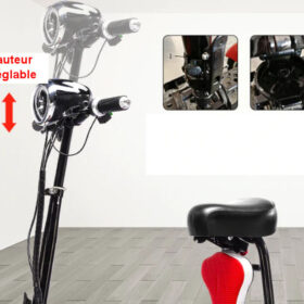 Trottinette électrique 4 roues pliant easy move avec hauteur de guidon réglable