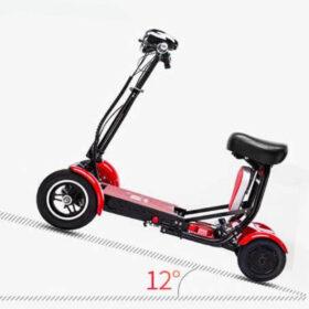 Trottinette électrique pliable 4 roues easy move avec batterie lithium, capable de grimper pente de 12°