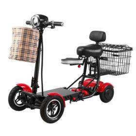 Trottinette électrique pliable 4 roues easy move avec batterie lithium 36v/15ah, et panier avant & arrière